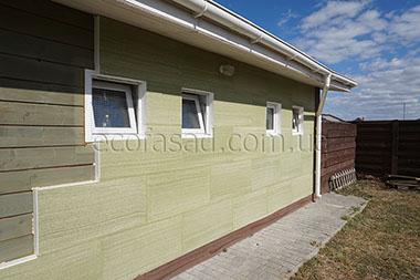 Утепление стен зелеными панелями