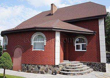 Гибкий клинкер дом фасад